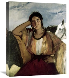 Edouard Manet - Gypsy with a Cigarette (Indian Woman Smoking)