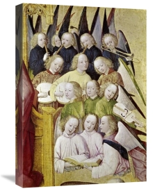 Master of Life of the Virgin - Choir of Angels - Detail-Life of The Virgin
