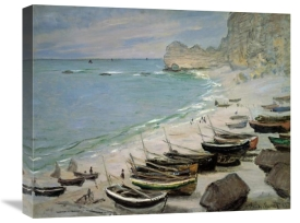 Claude Monet - Boats on the Beach at Etretat, 1883