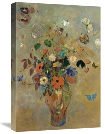 Odilon Redon - Bouquet of Flowers with Butterflies