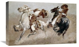 Frederic Remington - Cowboy Fun In Old Mexico