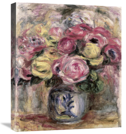 Pierre-Auguste Renoir - Flowers in a Blue and White Vase