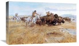 Charles M. Russell - Buffalo Hunt