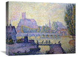 Paul Signac - Bridge at Auxerre Le Pont Due Auxerre