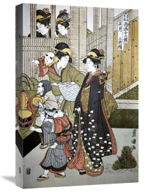 Utagawa Toyokuni - Customs of the Year: New Year's, Two Women