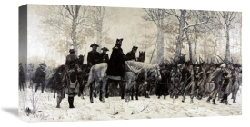 William T. Trego - Washington Reviewing His Troops at Valley Forge, 1883