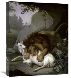 Wenzel Peter - A Lion Attacking a Goat