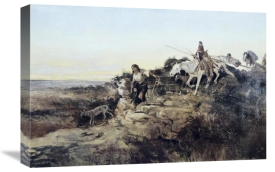 Charles M. Russell - Return from Hunt