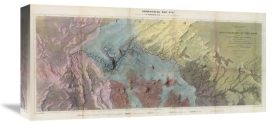 J.C. Ives - Geological Map, Rio Colorado of the West, 1858