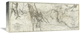 Lewis and Clark - Map of Lewis and Clark's Track, Across the Western Portion of North America, 1814