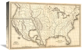 Samuel Augustus Mitchell - Map of the United States and Texas, Mexico and Guatimala, 1839