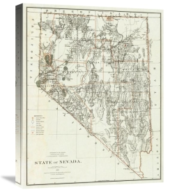 U.S. General Land Office - State of Nevada, 1879