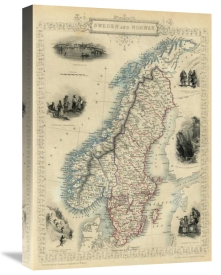 R.M. Martin - Sweden and Norway, 1851