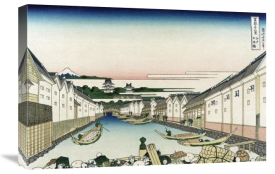Hokusai - Nihonbashi Bridge in Edo, 1830