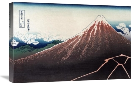 Hokusai - Rainstorm Beneath the Summit, 1830