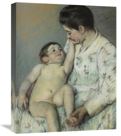 Mary Cassatt - Baby's First Caress 1891