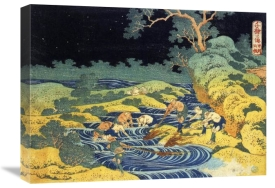 Hokusai - Fishing By Torchlight In Kai Province