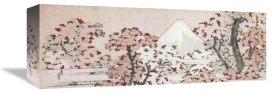 Hokusai - Mount Fuji With Cherry Trees In Bloom 1800