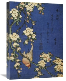 Hokusai - Weeping Cherry And A Bullfinch