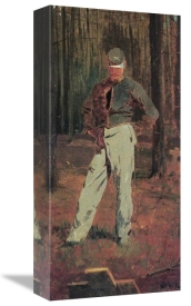 Winslow Homer - Trooper Meditating Beside A Grave
