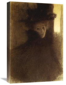 Gustav Klimt - Lady With Cape And Hat 1898