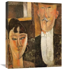 Amedeo Modigliani - Bride And Groom Les Maries
