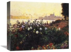 Claude Monet - Argenteuil The Bank In Flower