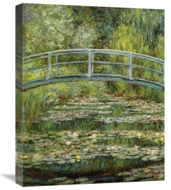 Claude Monet - Japanese Bridge And Water Lilies (1)