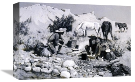 Frederic Remington - Prospectors Making Frying Pan Bread