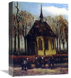 Vincent Van Gogh - Chapel At Nuenen With Churchgoers