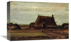 Vincent Van Gogh - Farm House With Peat Stacks