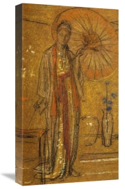 James McNeill Whistler - A Japanese Woman Painting 1872