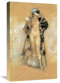 James McNeill Whistler - A Masked Woman 1888