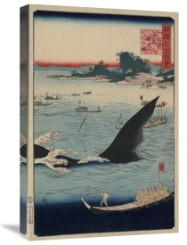 Utagawa Hiroshige - Whale hunting at the island of Goto in Hizen