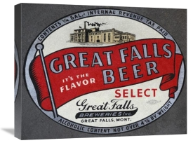 Vintage Booze Labels - Great Falls Beer