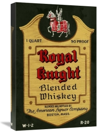Vintage Booze Labels - Royal Knight Blended Whiskey