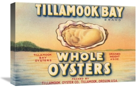 Retrolabel - Tillamook Bay Whole Oysters