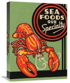 Retrolabel - Sea Foods Our Specialty