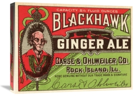 Vintage Booze Labels - Blackhawk Ginger Ale