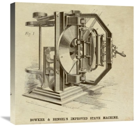Inventions - Bowker & Bensel's Improved Stave Machine