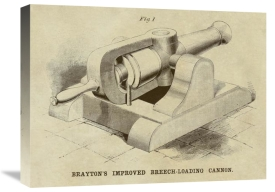 Inventions - Brayton's Improved Breech-loading Cannon