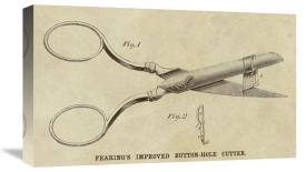 Inventions - Fearing Improved Button-hole Cutter