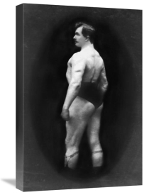 Vintage Muscle Men - Bodybuilder's Back and Partial Left Profile