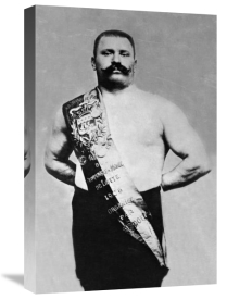 Vintage Muscle Men - Bodybuilder Wearing Bandolier of Victory