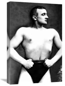 Vintage Muscle Men - Bodybuilder with Thumbs Tucked in Belt