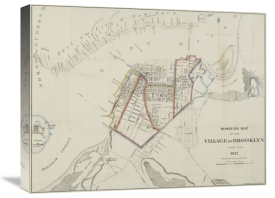 Unknown - Hooker's Map of the Village of Brooklyn, 1827