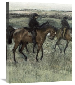 Edgar Degas - Race Horses (center)