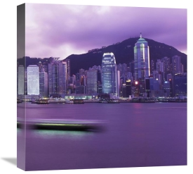 Reed Kaestner - Hong Kong Central District's Skyline at Twilight (right)