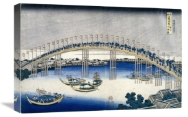 Katsushika Hokusai - The Festival of Lanterns on Temma Bridge,ca. 1827-1830