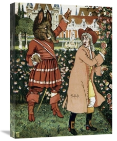 Walter Crane - Beauty and the Beast - The Beast in Red